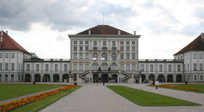 Nymphenburg castle. Front view of nymphenburg castle in munich Royalty Free Stock Photography