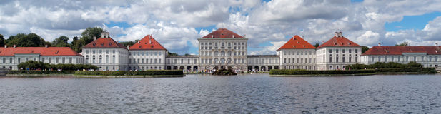 Nymphenburg Castle in Munich. Panorama of  Nymphenburger Schloss in Munich Stock Photography