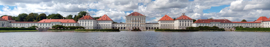 Nymphenburg Castle in Munich. Panorama of  Nymphenburger Schloss in Munich Stock Photos