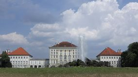 Nymphenburg Palace and Fountain in Munich, Germany stock video footage