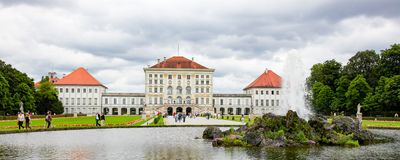 Nymphenburg Palace in Munchen, Germany. Nymphenburg Palace, the summer residence of the Bavarian kings, in Munich, Germany stock photos
