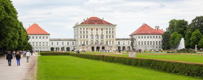 Nymphenburg Palace in Munich, Germany. Nymphenburg Palace, the summer residence of the Bavarian kings, in Munich, Germany royalty free stock images
