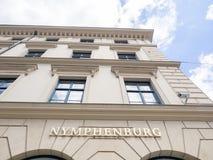 Nymphenburg porslinlager munich royaltyfri fotografi