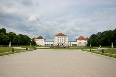 Nymphenburg schloss in munich. Nymphenburg castle in the park, munich Stock Photo
