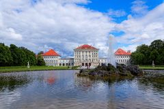 Nymphenburg slott Royaltyfria Foton