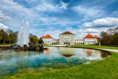 Nymphenburg slott Munich Tyskland Arkivbild