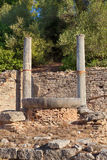 Nympheum water fountain to Herdoes Atticus in Olympia Greece Royalty Free Stock Image