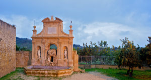 Nymphs  fountain, Leonforte - Stock Images
