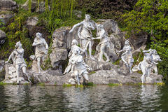 Nymphs in Royal Palace in Caserta. Nymphs women in the garden Royal Palace of Caserta Royalty Free Stock Images