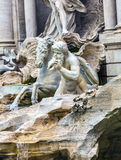 Nymphs Seahorse Statues Trevi Fountain Rome Italy. Nymph Seahorse Statues Trevi Fountain Rome Italy.  Nicola Salvi created the fountain and was constructed in Stock Photo