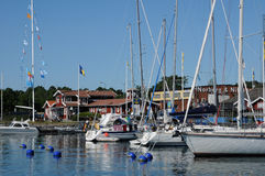 Nynashamn美丽如画的港  库存图片
