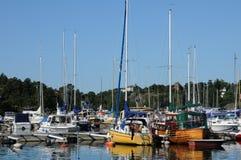 Nynashamn美丽如画的港 图库摄影