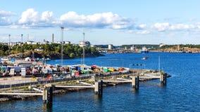 Nynashamn港  免版税库存图片