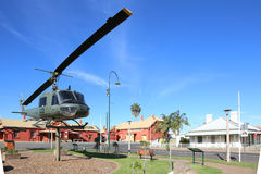Nyngan town square with Helicopter, Australia Royalty Free Stock Photography