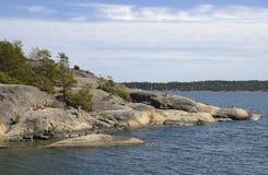 Nynshamn archipelag w lecie fotografia stock