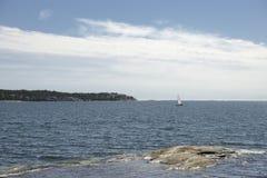 Nynshamn archipelag w lecie zdjęcia stock