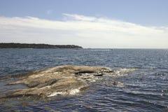 Nynshamn archipelag w lecie obrazy stock