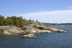 Nynshamn archipelag w lecie obraz royalty free