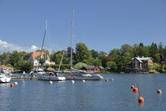 Nynshamn archipelag z marina zdjęcia royalty free