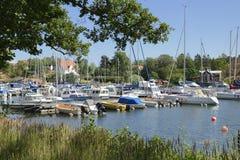 Nynshamn archipelag z marina obrazy royalty free
