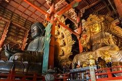 Nyoirin Kannon with the great Buddha at Todaiji Temple in Nara Stock Photos
