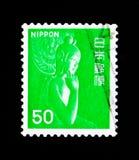 Nyoirin Kannon gudinna av förskoning - Chugu-ji tempel-, Nara, fauna-, flora- och kulturarvserie, circa 1976 Arkivbilder