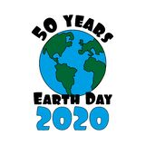 50 years Earth Day 2020 text- for Earth anniversay day.