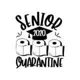 Senior 2020 Quarantine with toilet paper and Graduation Cap.