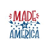 Made in America - Happy Independence Day July 4 lettering design illustration