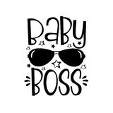 Baby Boss text with sunglasses