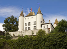 Nyon Castle. Is a 12th century fortress above Lake Geneva Stock Photography