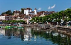 Nyon-Schloss - Nyon - die Schweiz Lizenzfreies Stockfoto