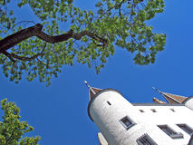 Nyon-Schloss, Swisse. Chateaude Nyon Stockfotos