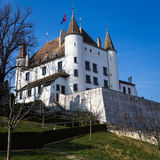 Nyon, Swiss castle Stock Photos
