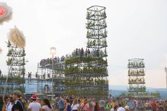 Nyon/Switzerland-09.09.2019 : Paleo music festival during summer Nyon Switzerland Stand