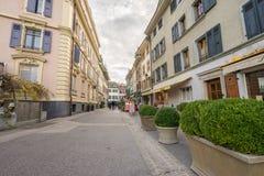 Nyon, Switzerland. Central Nyon city in Switzerland. HDR image Stock Photography