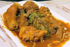Nyonya Chicken Curry Kapitan Dish Closeup Royalty Free Stock Image