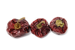Nyora. Some dried nyora isolated on a white background stock photos