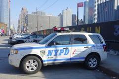 NYPD交通控制车在曼哈顿 免版税库存图片