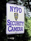 NYPD安全监控相机 免版税库存照片