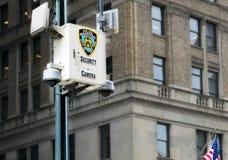 NYPD安全监控相机 库存图片