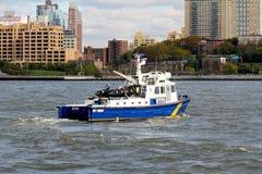 NYPD巡逻艇#8 免版税库存照片