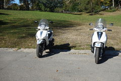 NYPD摩托车 免版税图库摄影