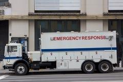 NYPD紧急响应卡车 免版税库存照片