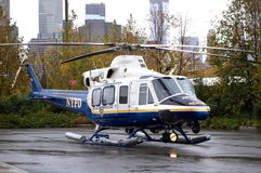 NYPD Air Sea Rescue Helicopter Royalty Free Stock Photography