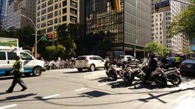 NYPD-Ambtenaren, NYC, NY, de V.S. Stock Fotografie