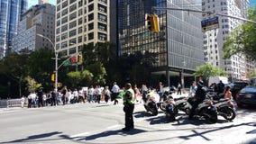 NYPD-Ambtenaren, NYC, NY, de V.S. Stock Afbeelding