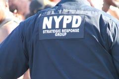 NYPD-Anwesenheit an der westindischen Tagesparade Stockbild