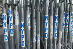 NYPD Barricades Royalty Free Stock Photography