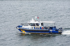 NYPD Boat in Harbor Stock Image